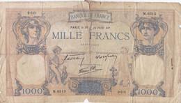 France - Billet De 1000 Francs Type Cérès & Mercure - 30 Mars 1939 - 1 000 F 1927-1940 ''Cérès Et Mercure''