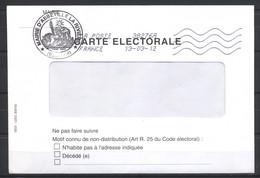 France, 2012, Enveloppe Carte Electorale, Mairie D'Abbeville La Rivière (91), Code ROC 38276A, 13-03-2012 - 1961-....