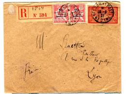 38559 - Affranchissement  Mixte FRANCE / MAROC - Cartas