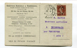CPA   Comptoir Agricole Potasse D'Alsace à Paris :pour Thieffrain    VOIR  DESCRIPTIF  §§ - Commercio