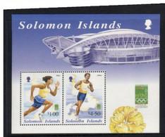 (stamps 24-10-2020) Solomon Islands Mini-sheet - Sydney Olympic Games - Zomer 2000: Sydney
