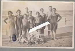 FOTOGRAFIA SALUTI DA CATTOLICA RIMINI  GRUPPO BAGNANTI 1931 - Rimini