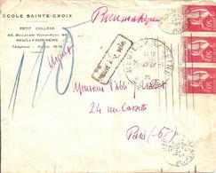 Neuilly Sur Seine (Seine) . Cachet Des Pneumatique 1935. - Bolli Manuali