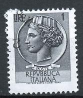 Italie - Italy - Italien 1968-72 Y&T N°993 - Michel N°1254 (o) - 1l Monnaie Syracusaine - Fluorescent - Filigrane * - 1961-70: Usados