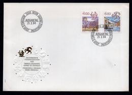 Switzerland 1984 FDC Oriental Lunar Calendar. - Chinese New Year