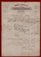 FARMACIA ANTONIO SABBATINI E C. ANCONA - PRODOTTI PER FOTOGRAFIA PROFUMI DI PARIGI...DEL 16 LUGLIO 1874 Da Incorniciare! - Italy