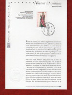 """"""" ALIENOR D'AQUITAINE """" Sur Notice Officielle 1er Jour De 2004 . N° YT 3640.  Parfait état. - Geschichte"""