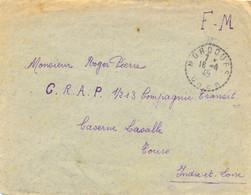 GUERRE 39-45 LETTRE MOROGUES CHER TàD R.D. 16-4-45 Pour C.R.A.P. 1/213 Compagnie Transit CASERNE LASALLE TOURS 37 - Guerre De 1939-45