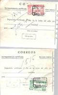 GIRO  CERTIFICADO 1944 - 1931-50 Covers