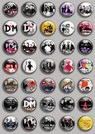 DEPECHE MODE Music Fan ART BADGE BUTTON PIN SET (1inch/25mm Diameter) 35 DIFF - Music