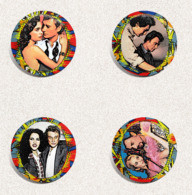 105 X Johnny Hallyday Music Fan ART BADGE BUTTON PIN SET 5-7 (1inch/25mm Diameter) - Music