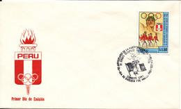 Peru FDC 1-3-1988 50th Anniversary Peru Participation Olympic Games Berlin 1936 - Peru