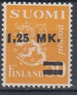 +M723. Finland 1931. Provisorie 1.25 M/ 50 P. Michel 171. MNH(**) - Neufs
