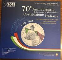 Italia Divisionale  2018 10 V. Fdc Con 5 € Ag - Italia