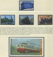 GAMBIA / MiNr. 5082 - 5085 Und Block 654 / Lokomotiven Aus Aller Welt (I) / Postfrisch / ** / MNH - Trenes
