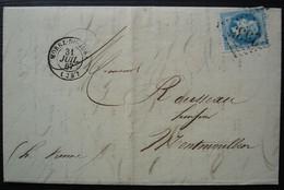 Morez Du Jura 1867 G.C 2535 Richard Frère Fabrique D' Horlogerie, étiquette à L'arrière, Pour Montmorillon - 1849-1876: Periodo Clásico