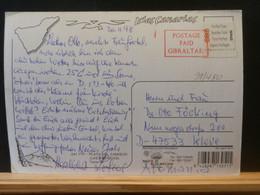91/480   CP ESPAGNE  VIGNETTE PP GIBRALTAR  1998 - 1991-00 Lettres