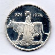 ICELAND, 500 Kronur, Silver, Year 1974, KM #20, PROOF - Iceland