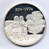 ICELAND, 1.000 Kronur, Silver, Year 1974, KM #21, PROOF - Iceland