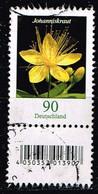 Bund 2017,Michel# 3304 R O Blumen: Johanniskraut Mit EAN-Code Und Nr. 65 - [7] Repubblica Federale