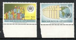 NICARAGUA. PA 423-4 De 1961. Année Mondiale Du Réfugié. - Refugiados