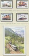 GHANA / MiNr. 2968 - 2971 Und Block 378 / Lokomotiven Aus Aller Welt. / Postfrisch / ** / MNH - Trenes