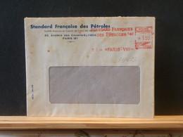 91/499   LETTRE FRANCE FLAMME ROUGE 1944 - Erdöl