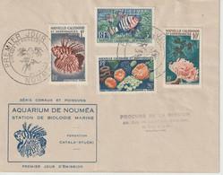 Nlle Calédonie FDC 1959 Coraux Et Poissons - FDC