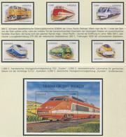 GHANA / MiNr. 2701 - 2706 Und Block 346 / Lokomotiven Aus Aller Welt / Postfrisch / ** / MNH - Trenes