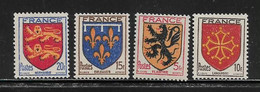 FRANCE  ( FR4 - 110 )  1944  N° YVERT ET TELLIER  N°  602/605   N** - Ungebraucht