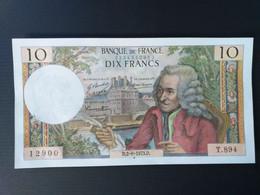 FRANCE-10 FRANCS 8/1/1971.Q. VOLTAIRE.SPLENDIDE - 10 F 1963-1973 ''Voltaire''