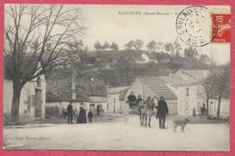 Saucourt Haute-Marne : La Place - Scène Animée Avec Un Attelage 1910 - Cachet Bien Frappé De Doulaincourt - Sonstige Gemeinden