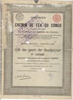 Titre Ancien - Compagnie Du Chemin De Fer Du Congo - Titre De 1896 - N°25482 - - Railway & Tramway