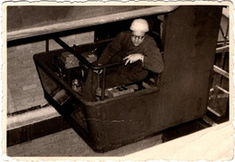 Photo Originale Conducteur D'engin De Chantier En Hauteur ! Grutier à La Manoeuvre - Grue - Professions