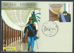 2017 ITALIA CARTOLINA POSTALE FDC MUSEO STORICO GUARDIA DI FINANZA - BF - Postwaardestukken