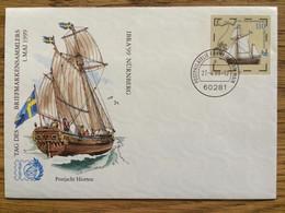 BRD Bund Postphilatelie Frankfurt Am Main, 27.-4.99 On Cover, Tag Der Briefmarke, IBRA, Postjacht Hiorten, Boat - Briefomslagen - Gebruikt