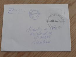 Lithuania Litauen Cover Sent From Kazlu Ruda To Siauliai  2008 - Lithuania