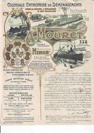 Nimes Déménagement MOURET Superbe Document De 1909 - Publicités