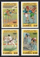 ZAMBIA 1992 - JJOO DE BARCELONA 92 - YVERT Nº 566-569 - MICHEL 615-618 - SCOTT 582-585 - Zambie (1965-...)