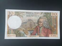 FRANCE-10 FRANCS 2/8/1973.D. VOLTAIRE.SPLENDIDE.AUNC - 10 F 1963-1973 ''Voltaire''