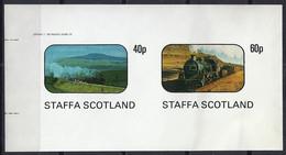 TRENES/STAFFA (Isla En El Oeste De Escocia) - MNH ** Sin Dentar - Treinen