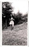 """Photo Originale Jolie Pin-Up Sexy Jupette à Pois & Haut Rétro """" Jacqueline A Une Belle Fourrure """" Vers 1950/60 - Pin-Ups"""