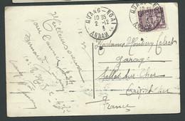 "Carte Postal D'indochine ""Quang-Ngai Bungalow"" Timbre Oblitéré ""Quang-Ngai - Annam 2/12/ "" 1924""   - Lam70 - Cartas"