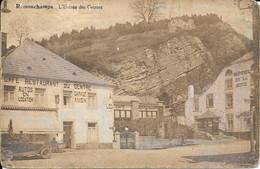 Remouchamps - Café Restaurant Du Centre Et Hôtel De La Grotte - Entrée Des Grottes - Circulé: 1926  - DÉFRAÎCHIE-2 Scans - Aywaille