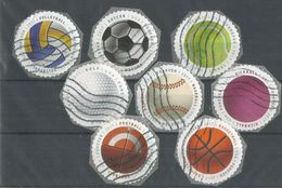 USA Balls For Playing Sports - Global Forever - Cpl 8v Set Used - Used Stamps