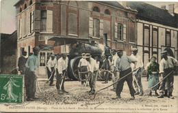 51 Marne   TOP CPA  BARBONNE-FAYEL  Place De La Liberté  TOULEAU DE SEZANNE - Otros Municipios