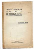 """""""L'HOTEL CHEVILLON ET LES ARTISTES DE GRES-SUR-LOING"""" Par Fernand Sadler (grez-sur-loing) - Art"""