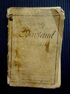 Livret Militaire Léon Daviaud Classe 1907 + Fascicule De Mobilisation + Attestation De Vaccination 1916 - Documentos