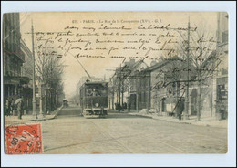 H459/ Paris La Rue De La Convention Tram Straßenbahn AK 1908 - Unclassified