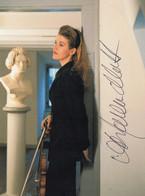 PHOTO DEDICACEE DE LA VIOLONNISTE ALLEMANDE ANNE SOPHIE MUTTER - Signed Photographs